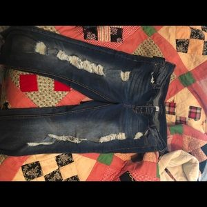 Plus size maurices skinny jeans distressed